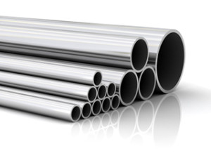 High quality render of stacked steel pipe